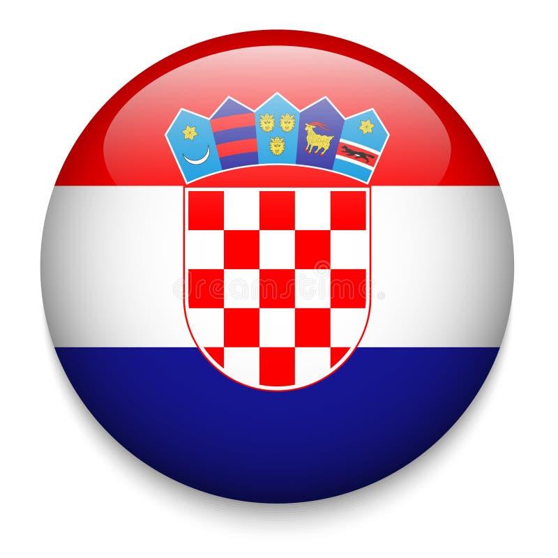 Chorwacja flaga guzik royalty ilustracja