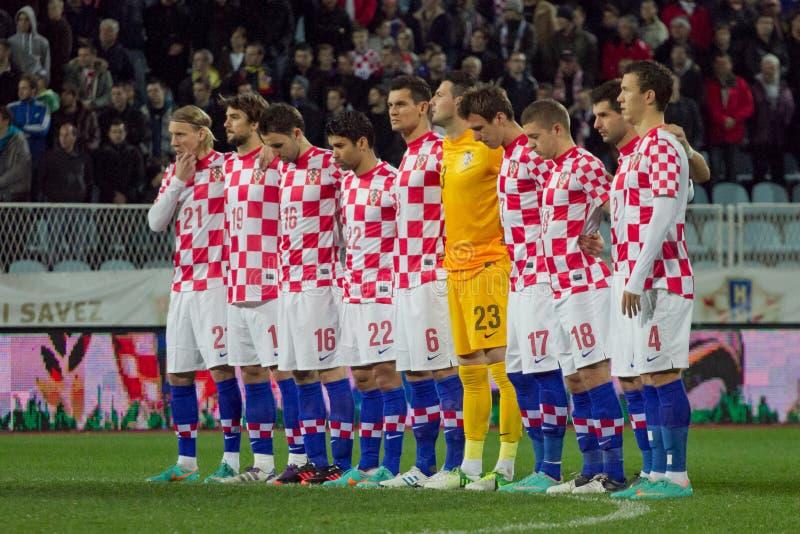 Chorwacja Obywatela Drużyna Futbolowa fotografia stock
