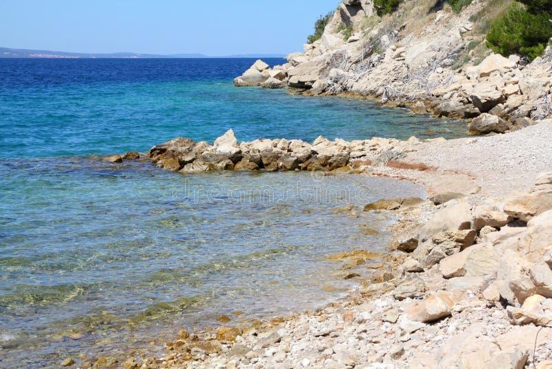 Chorwacja plaża zdjęcia stock