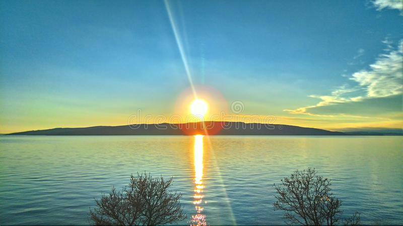 Chorwacja słońce zdjęcie royalty free