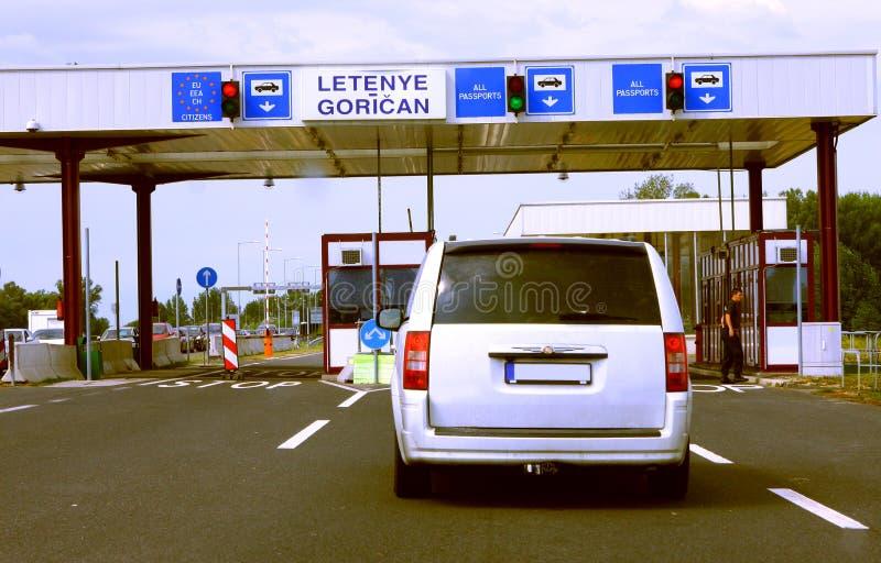 Chorwacja słup graniczny zdjęcia stock