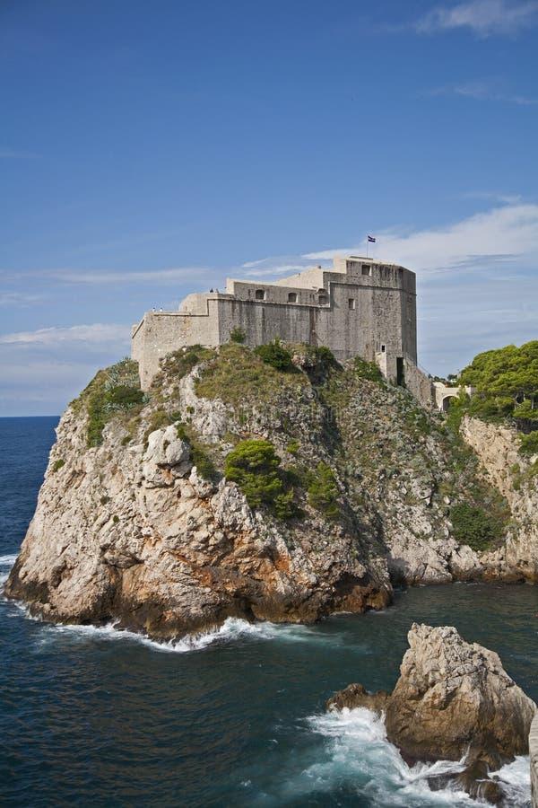 Chorwacja ` s Lovrjenac Bokar i fort Górujemy obrazy royalty free