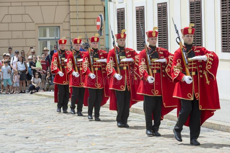 Chorwacka gwardia narodowa obrazy stock