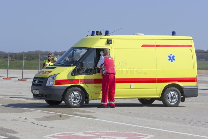Chorwacki ambulansowy pojazd fotografia stock