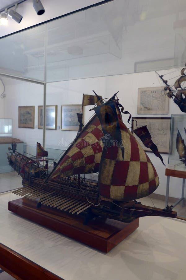 Chorwacki galery St Jerolim, bra? udzia? w bitwie Lepanto obraz stock
