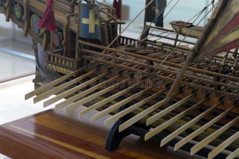 Chorwacki galery St Jerolim, bra? udzia? w bitwie Lepanto obrazy royalty free