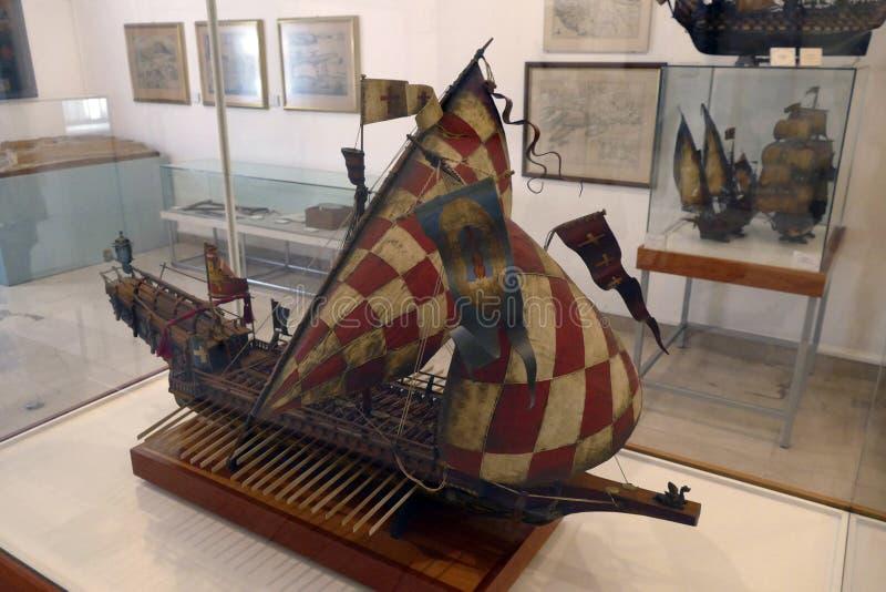 Chorwacki galery St Jerolim, bra? udzia? w bitwie Lepanto fotografia royalty free
