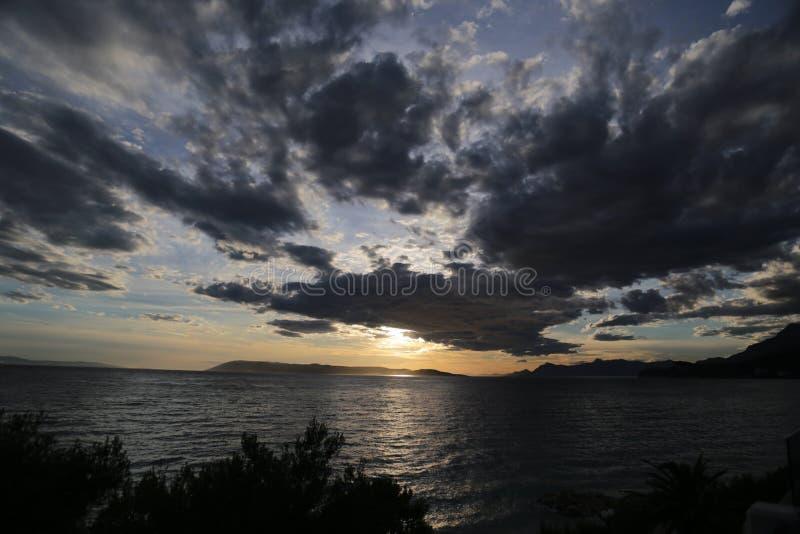 Chorwacki morze fotografia stock