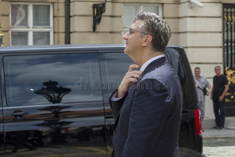 Chorwacki premier Andrej Plenkovic obraz stock