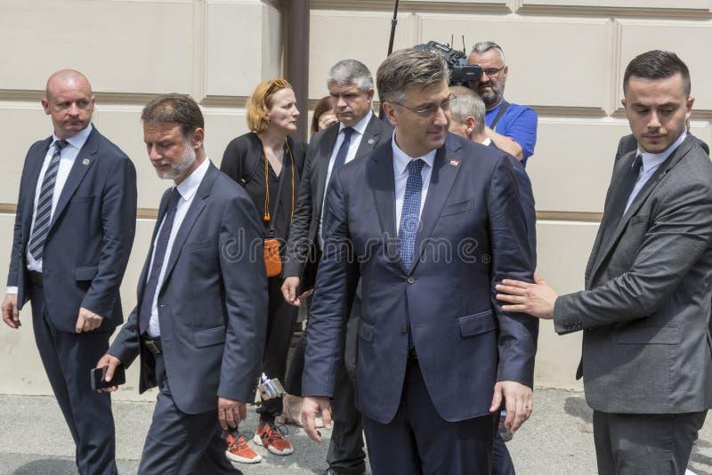 Chorwacki premier Andrej Plenkovic zdjęcia royalty free
