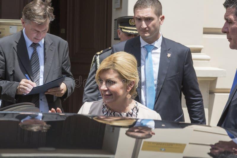 Chorwacki prezydent Kolinda Grabar Kitarovic zdjęcie stock