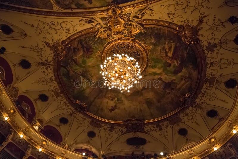 Chorwacki teatru narodowego sufit zdjęcie stock