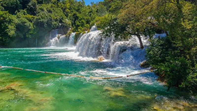 Chorwackie siklawy obrazy stock