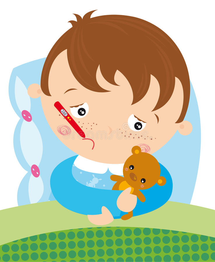 chory dzieciak