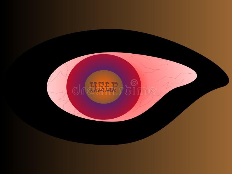 Chory oko ilustracja wektor