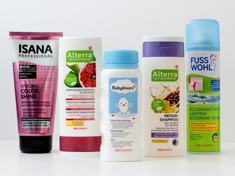 Rossmann products royalty free stock image