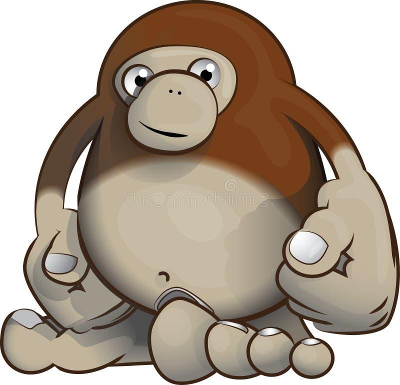 Chose 2 de singe de Bigfoot photo libre de droits