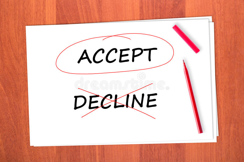 Download Chose The Word ACCEPT Stock Image - Image: 23094801