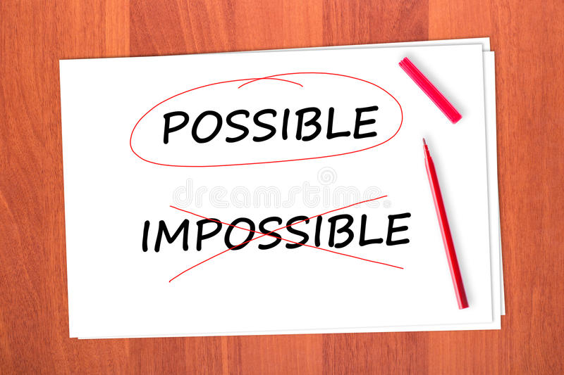 Download Chose the word POSSIBLE stock photo. Image of impossible - 23094898