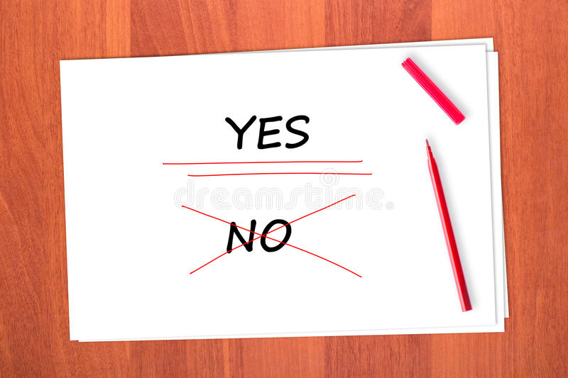 Download Chose The Word YES Stock Photo - Image: 23094770