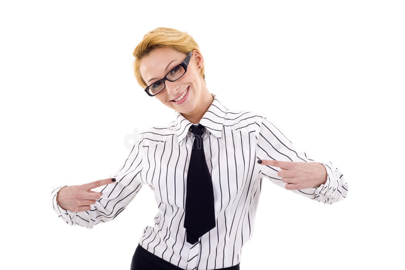 Download The chosen one stock photo. Image of happy, businesswoman - 14213034