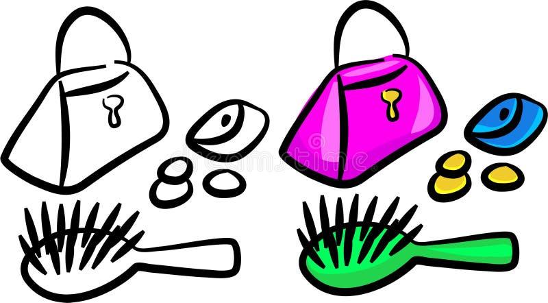 Choses de Girlie illustration libre de droits