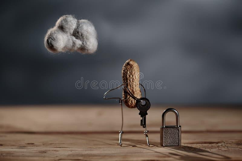 Choses simples - sécurité de nuage photo libre de droits