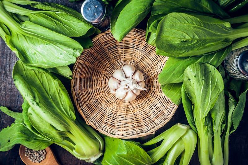 Chou de chine ou légume frais de Bok Choy images libres de droits