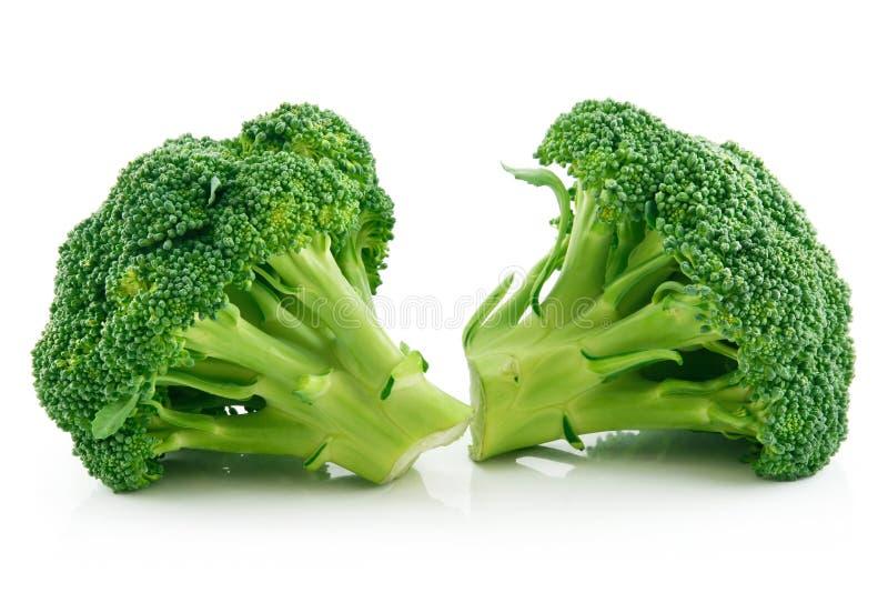 Chou mûr de broccoli d'isolement sur le blanc images libres de droits