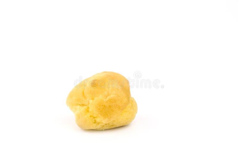 Choux тесто, Eclair, E-clair, сливк Choux на белизне стоковое фото rf