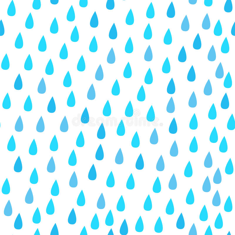 Chova gotas Teste padrão sem emenda do vetor Azul e branco abstratos ilustração royalty free