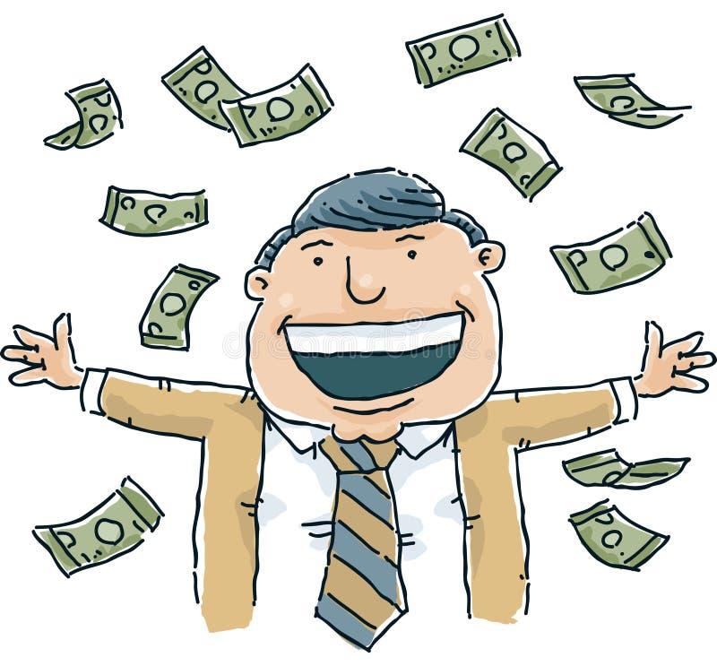 Chovendo o dinheiro ilustração do vetor