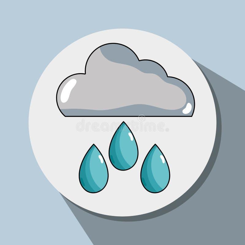 Chover da nuvem e conservação natural do waether ilustração stock