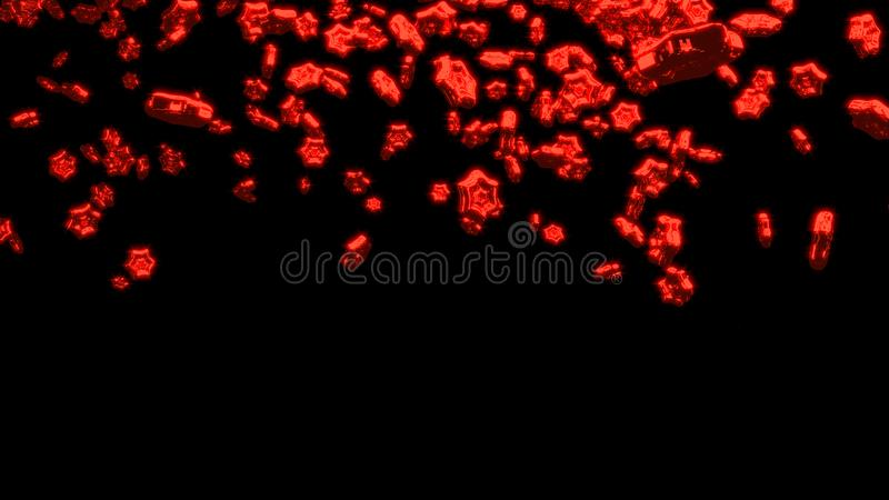 Chover grande e Chubby Red Six Branchs Stars ilustração royalty free