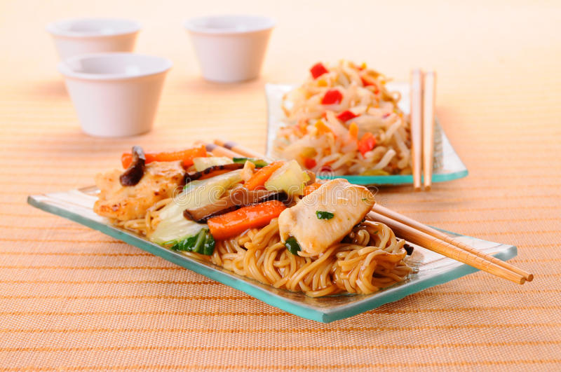 Chow Mein stock image
