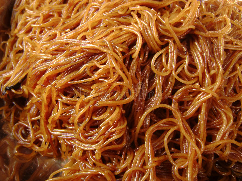 Chow Mein. Closeup of Chow Mein (fried noodles stock photos