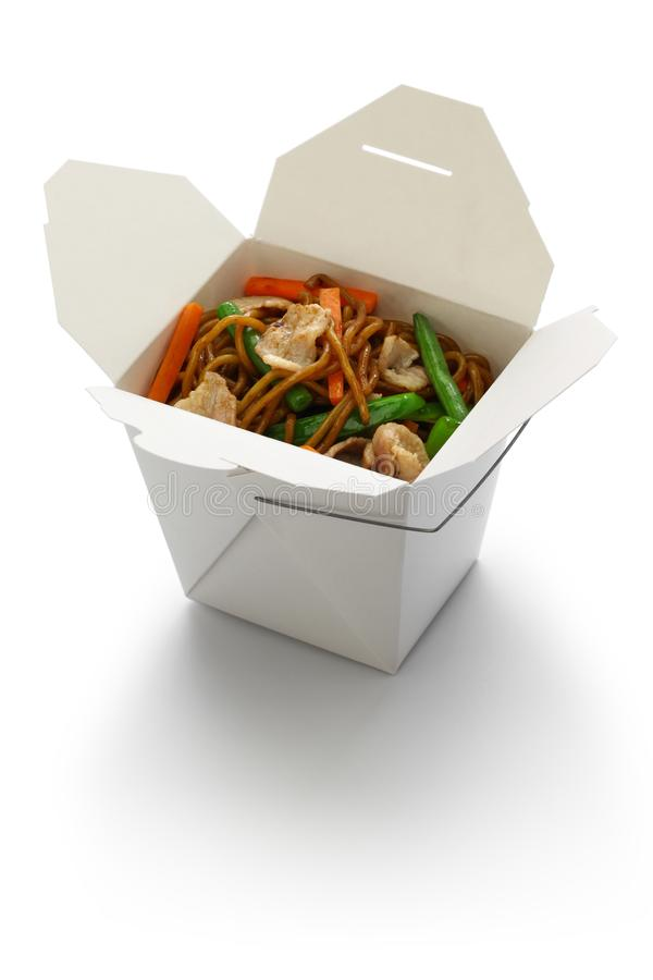 Free Chow Mein, Take Out Chinese Cuisine Royalty Free Stock Photography - 122235187