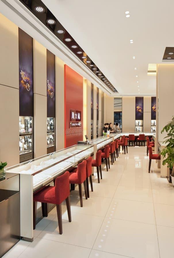 Chow Tai Fook-afzet, Livat-Winkelcomplex, Peking, China stock afbeelding