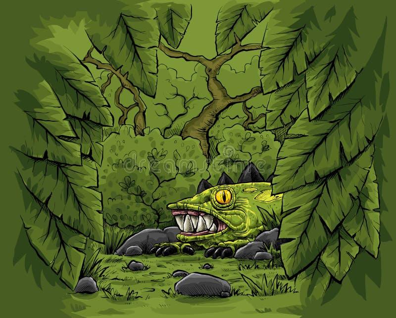 Chowana dżungli bestia ilustracji