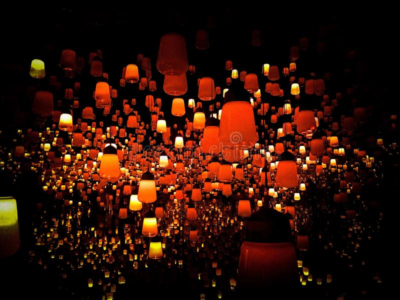 Chowany Japoński Lampowy łudzenie zdjęcie royalty free