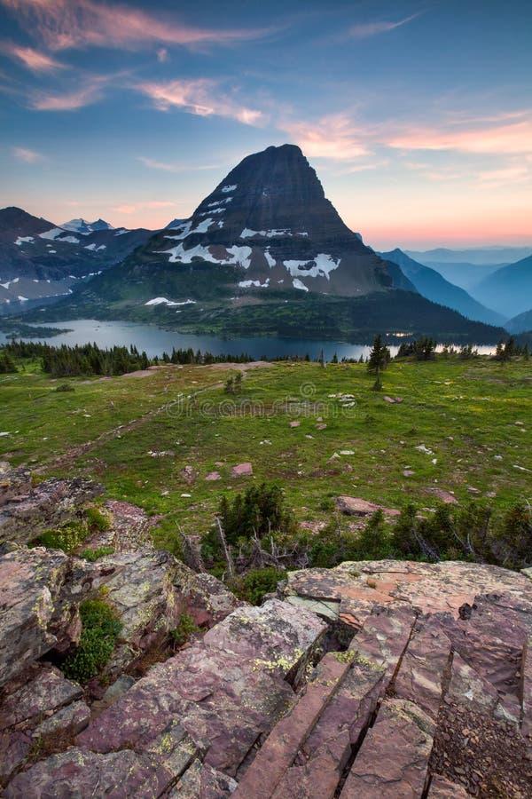 Chowany Jeziorny ślad, lodowa park narodowy, Montana, usa zdjęcia royalty free