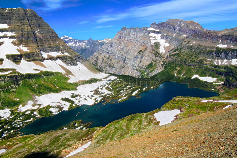 Chowany Jeziorny lodowa park narodowy zdjęcia royalty free