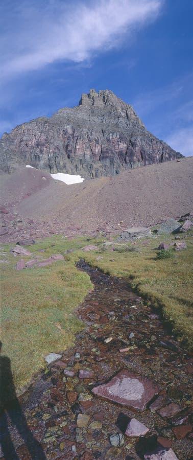 Chowany jezioro przy lodowa parkiem narodowym, Montana obraz stock