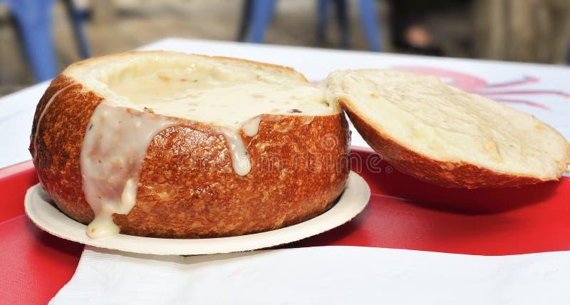 Chowder de almeja de San Francisco imagen de archivo libre de regalías