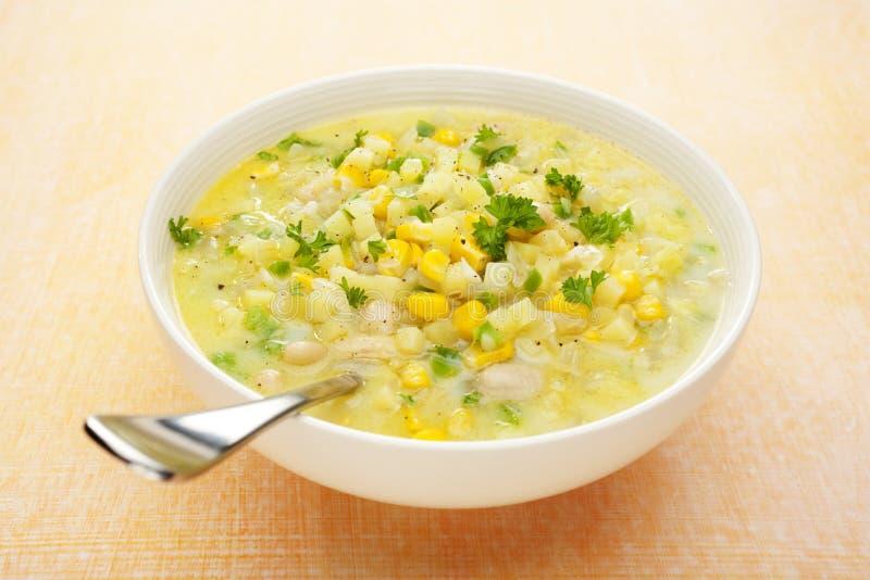 Chowder de maíz imagen de archivo