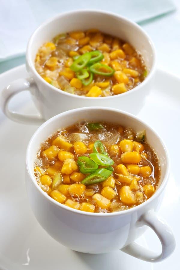 Chowder de maíz imagenes de archivo