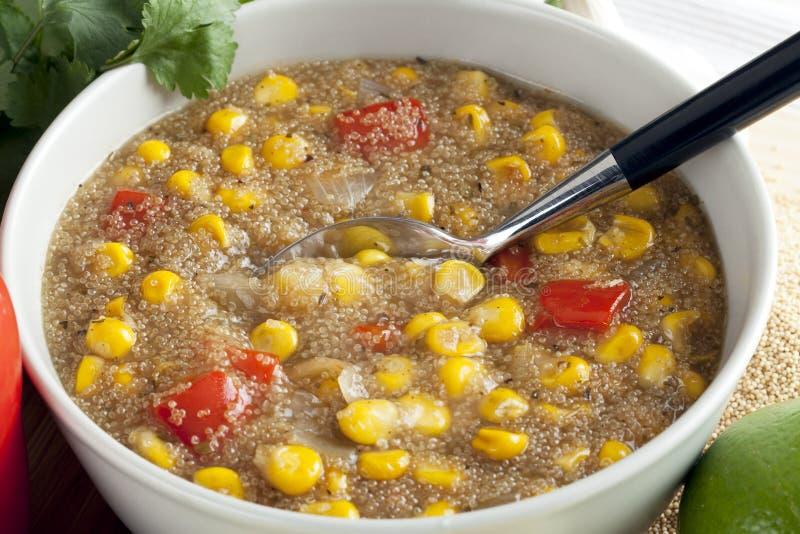 Chowder de maíz del amaranto foto de archivo libre de regalías