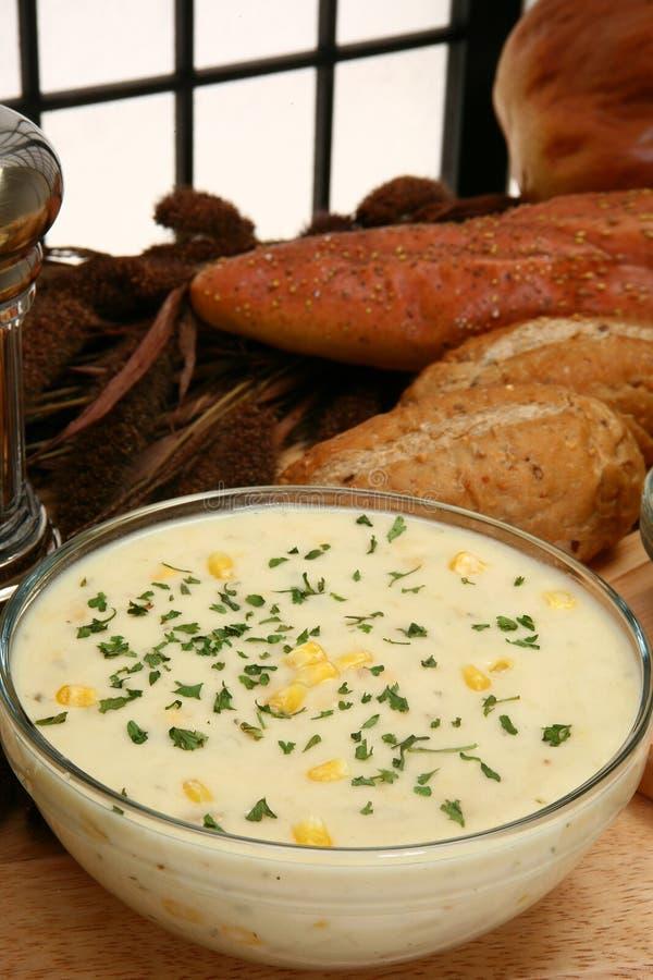 Chowder de milho fotografia de stock