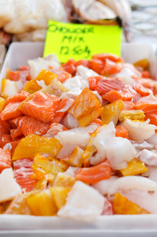 Chowder mix at market royalty free stock photography