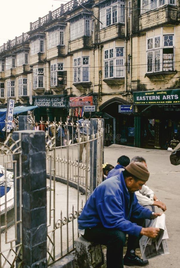 Chowrasta de Darjeeling, la plaza west fotografía de archivo